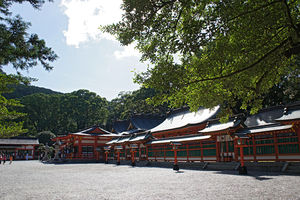 English: Kumano-Hayatama-shrine in Shingu, Wak...