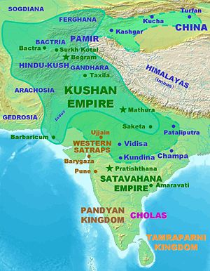 Map of the Kushan empire