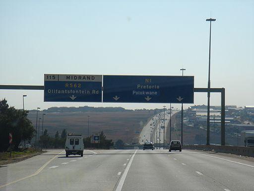 N1 (South Africa), Pretoria