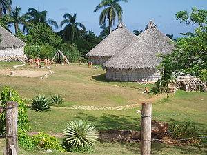 Reconstruction of Taino village