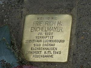 Deutsch: Hier wohnte / Friedrich H. Enchelmaye...