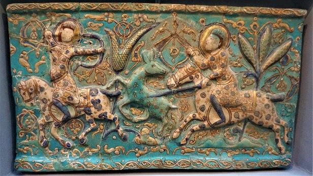 Tile - Building Ceramic - Iran 13th - 14th Century - Pergamon Museum