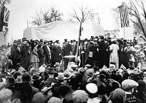The unveiling of the Bell Telephone Memorial, ...