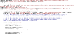 English: The XHTML source for Wikipedia.