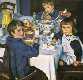 Zinaida Serebryakova (1914) At Breakfast