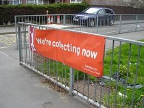 Sainsbury's Active Kids banner at a school in ...