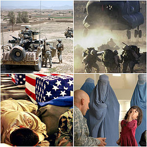 English: collage of four photos for the Afghan...