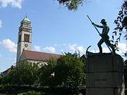 Monuments aux morts de la guerre 1914-1918 dans le Jardin des roses (Rosengarten).