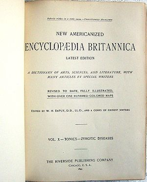 English: Title page of the Americanized Encycl...