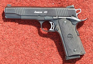 Armscor caliber 45 ACP, a clone of Colt 1911A1
