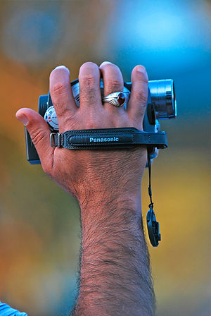 Panasonic Camcorder in Use