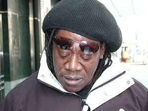 """Clarence Clemons in front of the """"Four Se..."""