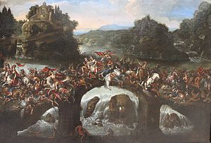 Deruet - La bataille entre les amazones et les...