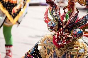 Diablada dancer during the Carnival in Oruro 2009.
