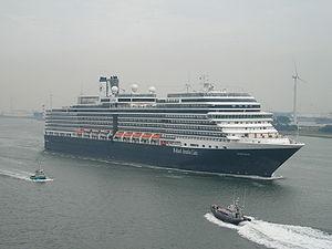 The cruise liner Eurodam passing Hoek van Holl...