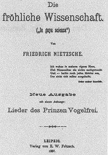Frohliche Wissenschaft Titelblatt Der Ausgabe Von