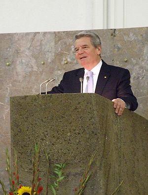 "English: Joachim Gauck, at ""Paulskirche&q..."