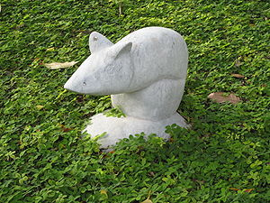 The rat statue is one of the 12 Chinese Zodiac...