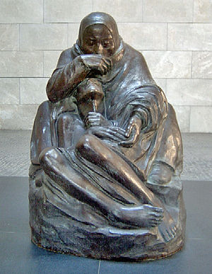 Lëtzebuergesch: Pietà vun der Käthe Kollwitz.