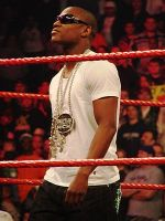 Floyd Mayweather, Jr in a WWE ring. Bradley Ce...