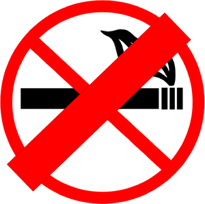 Stop for no smoking terror