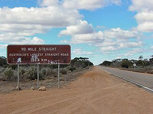 Eyre Highway on the Nullarbor Plain, Australia...