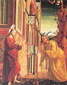 Versuchung Jesu Auf Der Sonntagsseite Des Pacher Altars Von St Wolfgang