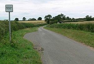 English: Passing place on Tinsel Lane