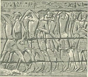 Procession of Philistine Captives At Medinet-habu.