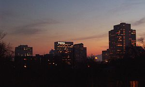 Salt Lake City at dusk
