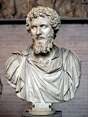 Bust of Septimius Severus (reign 193–211 CE). ...