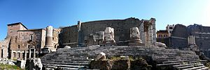 A panoramic view of the Temple of Mars Ultor (...