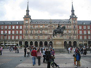 View of the Casa de la Panadería in the Plaza ...