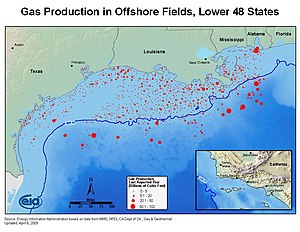 English: US Gulf of Mexico offshore natural ga...