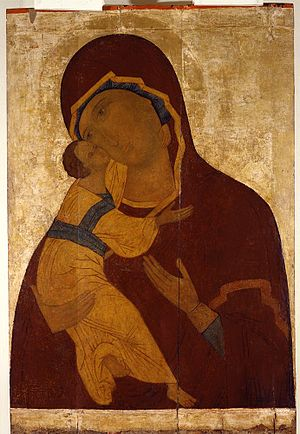 English: Theotokos Vladimirskaya, Vologda, ear...