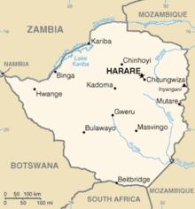 Mapa  Zimbábue, Zimbabué, Zimbabwe