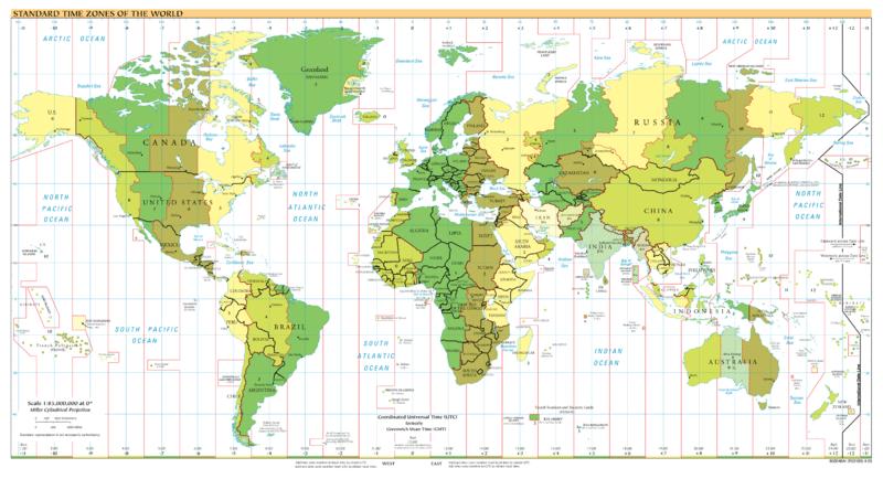 across time zones