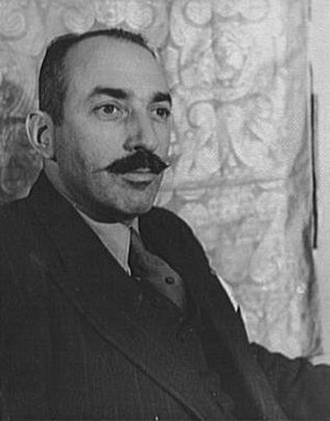 English: Alfred A. Knopf photo taken by Carl V...