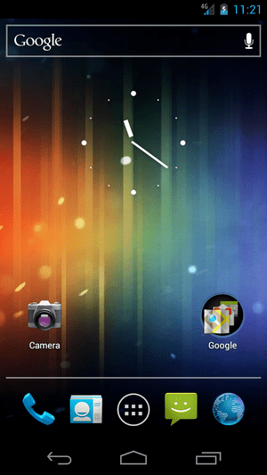 Screenshot of Android 4 on Galaxy Nexus