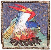 Antiguo dibujo del ave Fénix.
