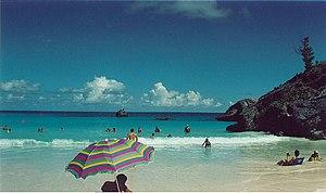 English: Beach scene, Bermuda