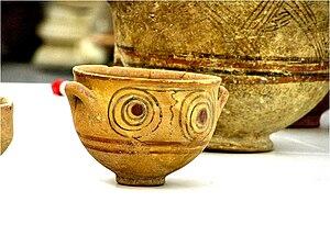Philistine Bichrome pottery vessel