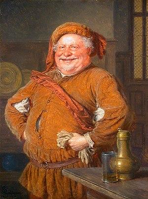 Eduard von Grützner's depiction of Falstaff, a...