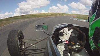 English: In Car Footage from a Van Diemen RF01...