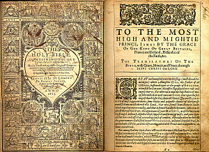 Titlepage and dedication from a 1612-1613 King...