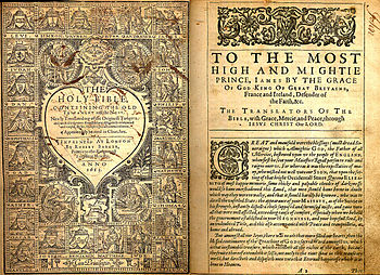 English: Titlepage and dedication from a 1612-...