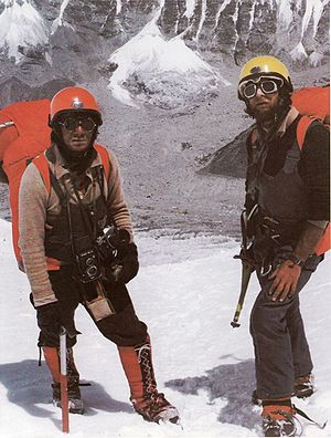 Jerzy Kukuczka and Andrzej Czok during 1980 sp...