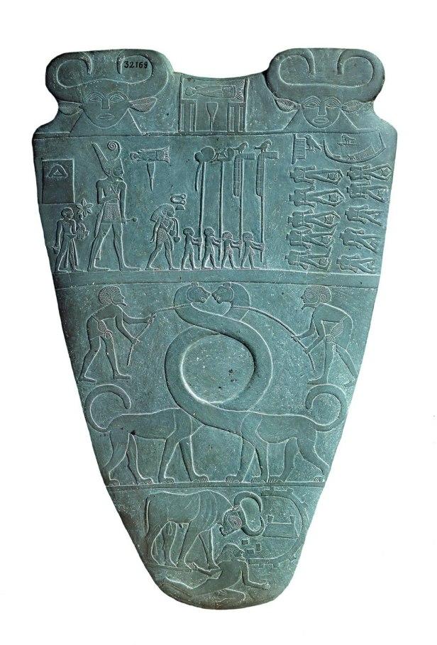 Narmer Palette serpopard side