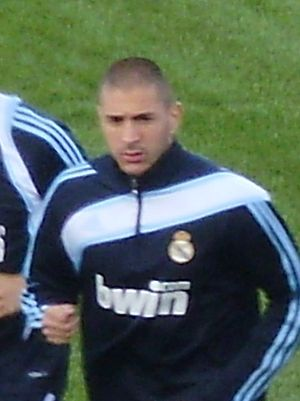 English: Real Madrid's player (Karim Benzema‎)...
