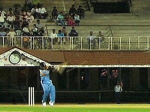 Indian cricketer, Sachin Tendulkar, doing what...